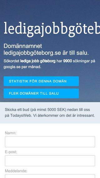 Mobile preview of ledigajobbgöteborg.se