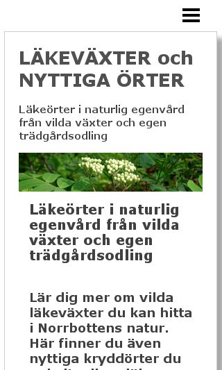 Mobile preview of läkeörter.se