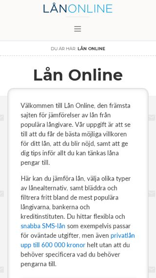 Mobile preview of lån.online