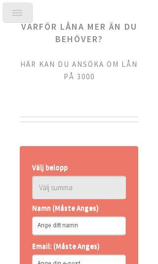 Mobile preview of lån3000kr.se