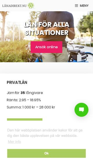 Mobile preview of lånadirekt.nu