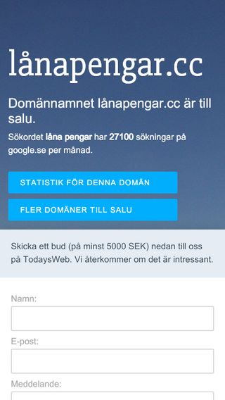 Mobile preview of lånapengar.cc