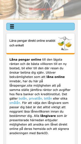 Mobile preview of lånapengar.site