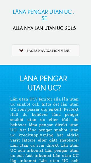 Mobile preview of lånapengarutanuc.se