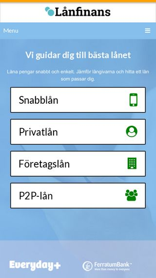 Mobile preview of lånfinans.se