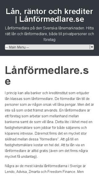 Mobile preview of lånförmedlare.se