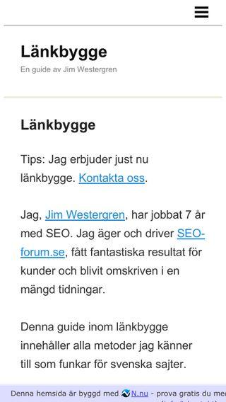 Mobile preview of länkbygge.se