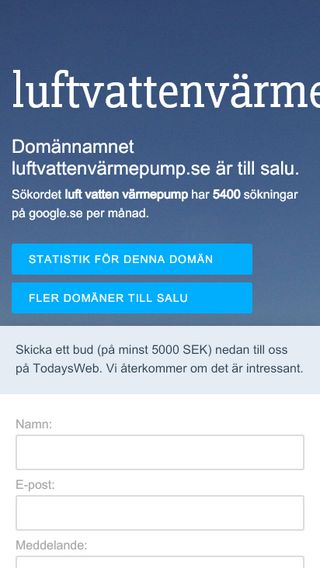 Mobile preview of luftvattenvärmepump.se