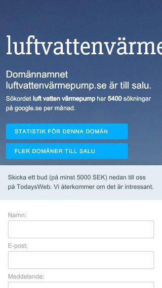 Mobile preview of luftvattenvärmepump.se