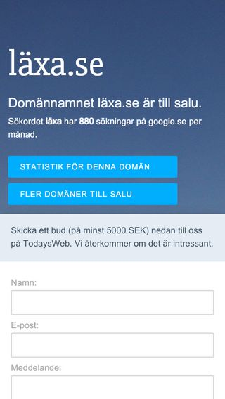 Mobile preview of läxa.se
