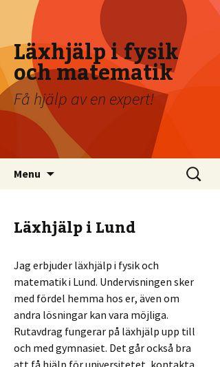 Mobile preview of läxhjälplund.nu