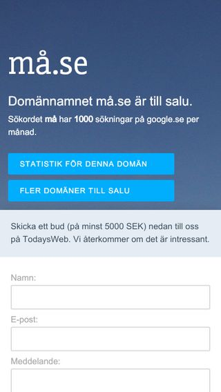 Mobile preview of må.se