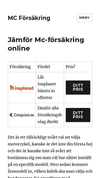 Mobile preview of mcförsäkring.se