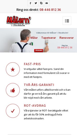 Mobile preview of målarenstockholm.nu