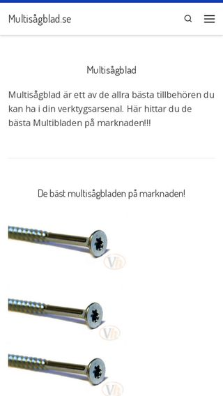 Mobile preview of multisågblad.se