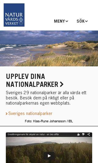 Mobile preview of naturvårdsverket.se
