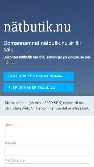 Mobile preview of nätbutik.nu