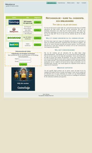 Mobile preview of nätcasinon.se