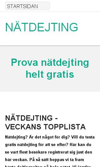 Mobile preview of nätdejting.nu