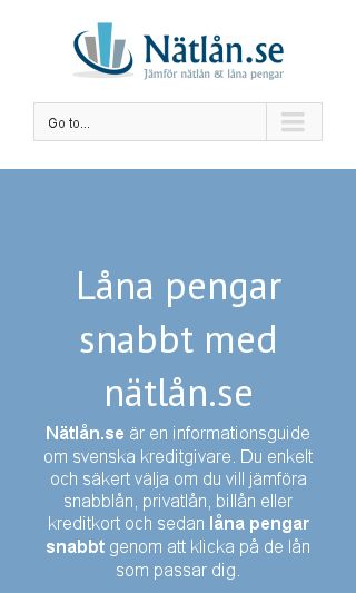 Mobile preview of nätlån.se