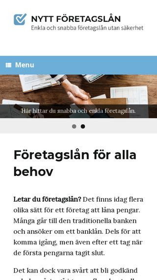 Mobile preview of nyttföretagslån.nu