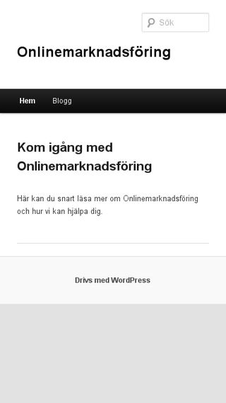 Mobile preview of onlinemarknadsföring.se