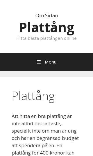 Mobile preview of plattången.se