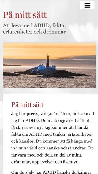 Mobile preview of påmittsätt.se