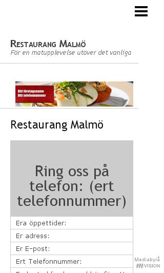 Mobile preview of restaurangmalmö.nu
