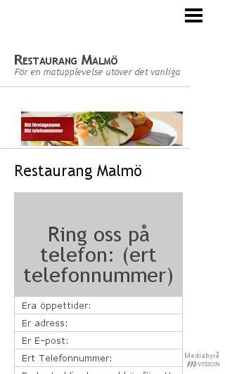 Mobile preview of restaurangmalmö.nu