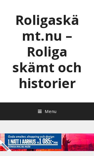 Mobile preview of roligaskämt.nu