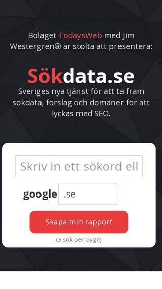 Mobile preview of sökdata.se