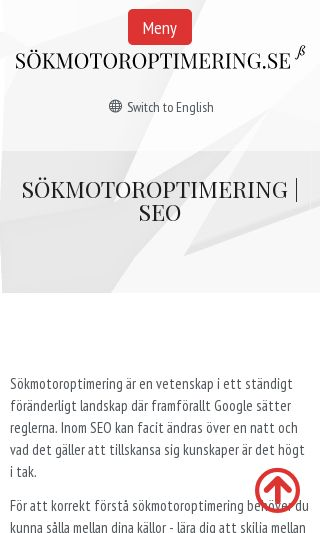 Mobile preview of sökmotoroptimering.se