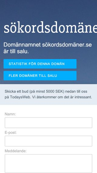 Mobile preview of sökordsdomäner.se