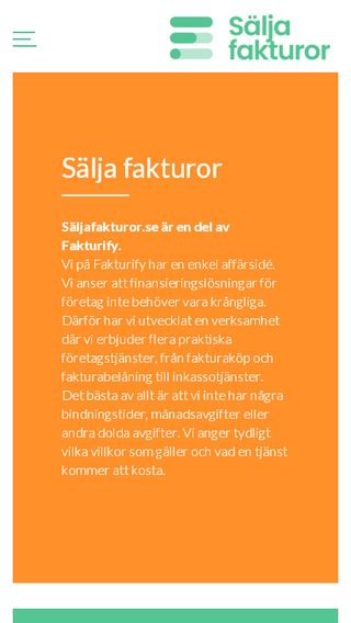 Mobile preview of säljafakturor.se