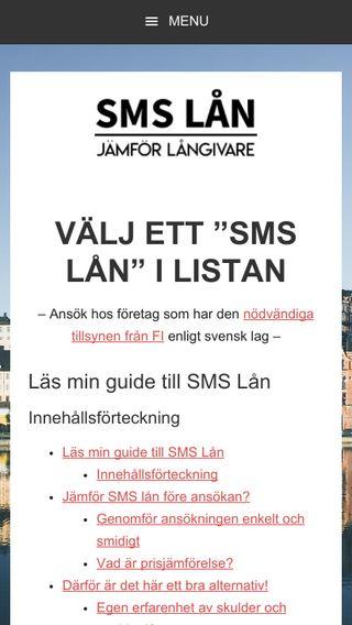 Mobile preview of smslån.xyz