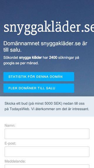 Mobile preview of snyggakläder.se