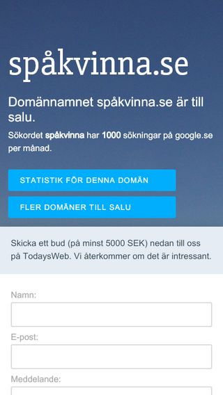 Mobile preview of spåkvinna.se