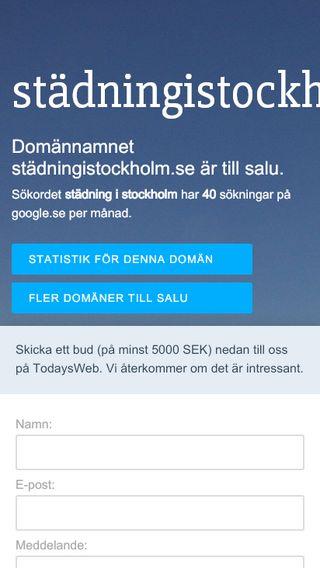 Mobile preview of städningistockholm.se