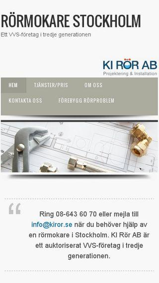 Mobile preview of stockholmsrörmokare.se