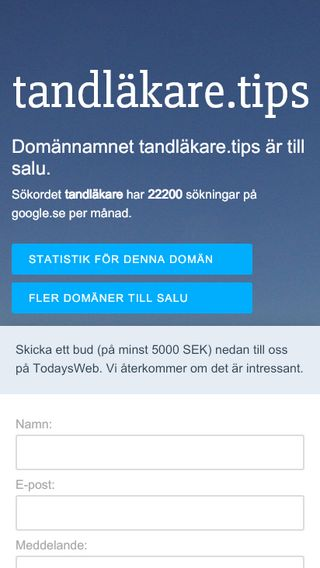 Mobile preview of tandläkare.tips