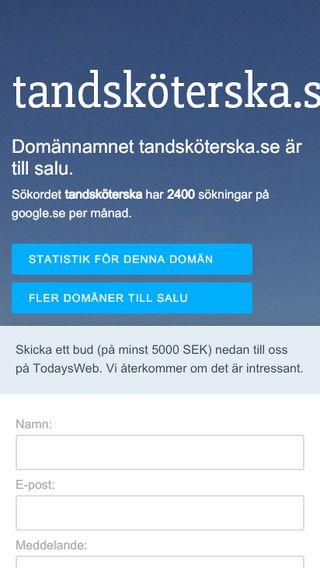 Mobile preview of tandsköterska.se