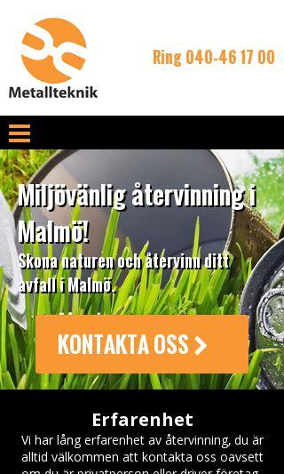 Mobile preview of återvinningmalmö.nu