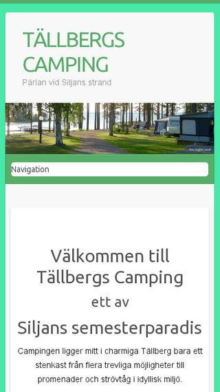 Mobile preview of tällbergscamping.se