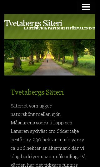 Mobile preview of tvetabergssäteri.se