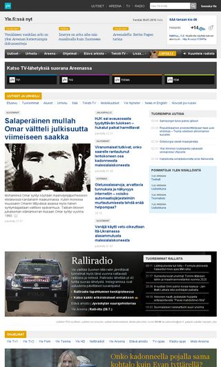 Mobile preview of yle.fi
