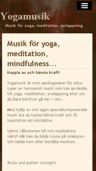 Mobile preview of yogamusik.n.nu