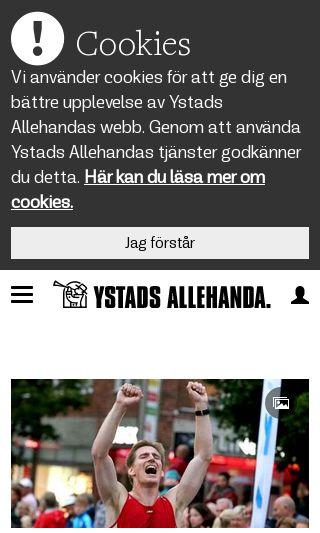 Mobile preview of ystadsallehanda.se
