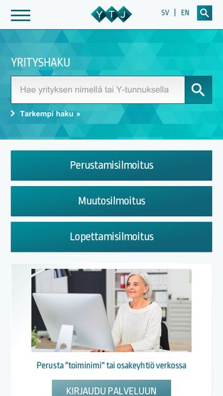 Mobile preview of ytj.fi