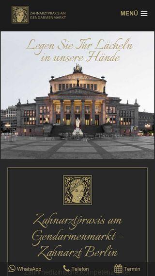 Mobile preview of zahnarzt-berlin-praxis.de